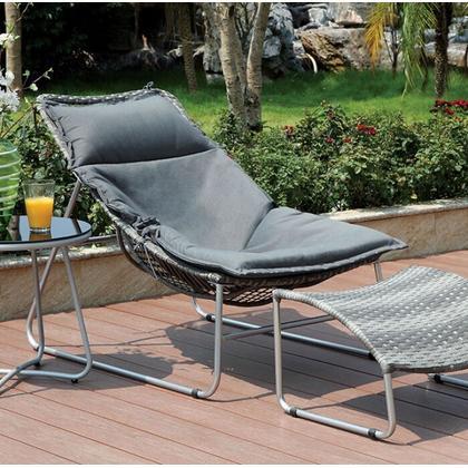 See Details - Lili Patio Chair W/ Ottoman