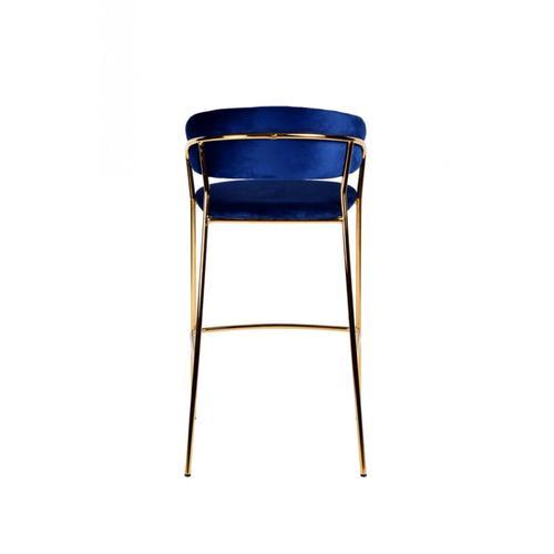 VIG Furniture - Modrest Brandy Modern Blue Fabric Bar Stool (Set of 2)