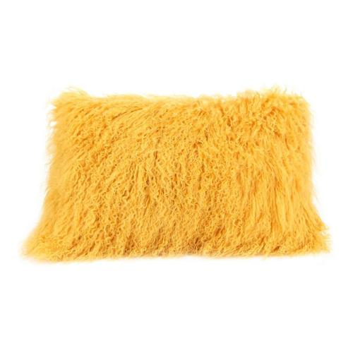 Moe's Home Collection - Lamb Fur Pillow Rect. Gold