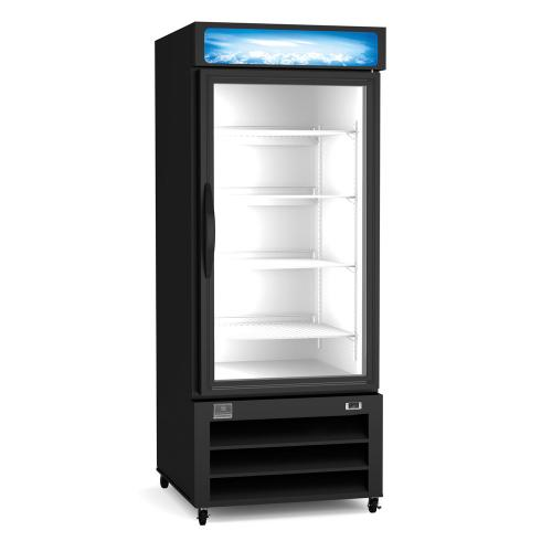 Refrigeration Equipment Merchandiser Freezer, 23 cu.ft, 1 Glass Door, black (R290)