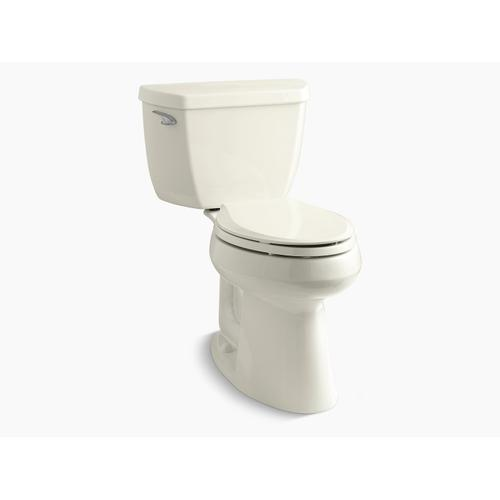 """Kohler - Biscuit Two-piece Elongated 1.28 Gpf Chair Height Toilet With 10"""" Rough-in"""