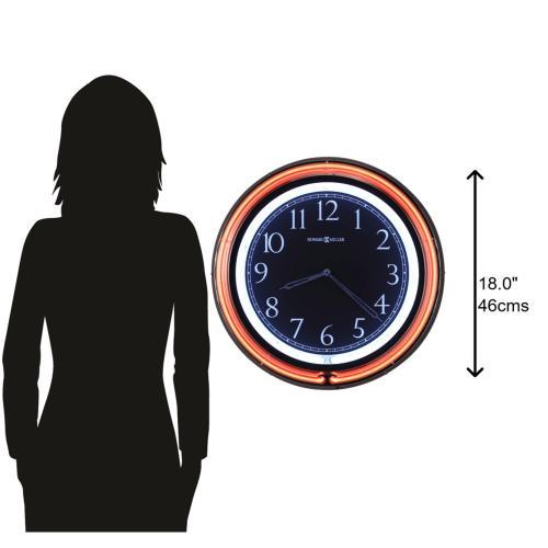 Howard Miller Galleria Neon Wall Clock 625751