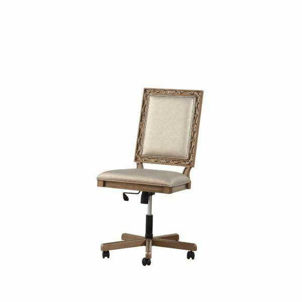 ACME Orianne Executive Office Chair - 91437 - Champagne PU & Antique Gold