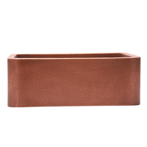 "Barroca Single Bowl Copper Farmer Sink - 30"""