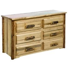 Glacier Country Collection 6 Drawer Dresser