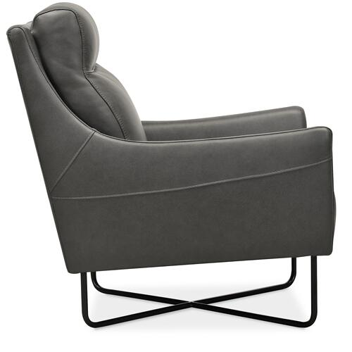Hooker Furniture - Efron Club Chair w/ Black Metal Base