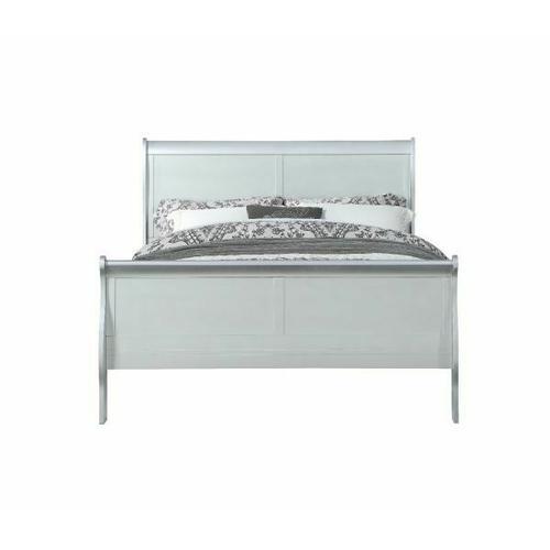 ACME Louis Philippe Eastern King Bed - 26727EK - Platinum