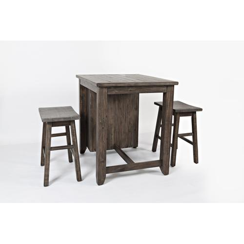 CLEARANCE 1700-36 MADISON COUNTY 3 Pc. COUNTER HEIGHT SET in BARNWOOD