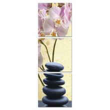Modrest Yoga Stones 3-Panel Photo On Canvas