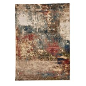 """Landis-Abstract Blue Multi - Rectangle - 3'3"""" x 4'10"""""""