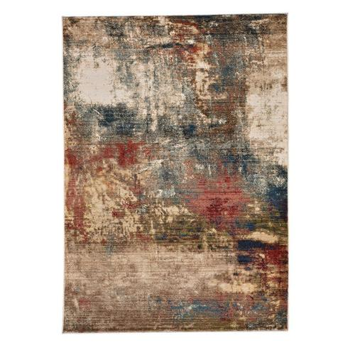 """Capel Rugs - Landis-Abstract Blue Multi - Rectangle - 3'3"""" x 4'10"""""""