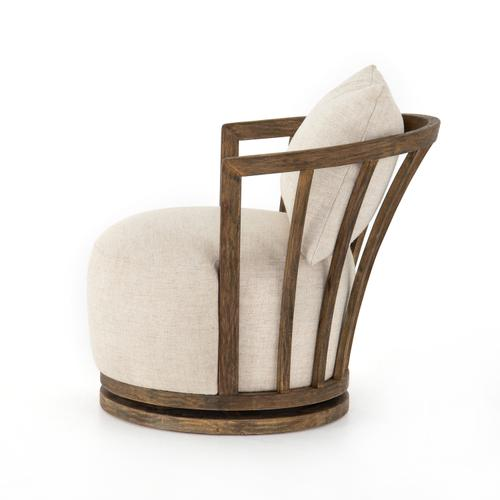 Hallie Swivel Chair-thames Cream