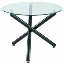 See Details - Suzette Round Dining Table in Black