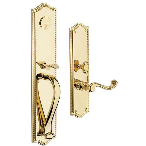 Non-Lacquered Brass Bristol Entrance Trim