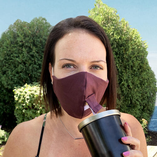 Happy Hour Reusable Face Mask in Titan Purple Eggplant