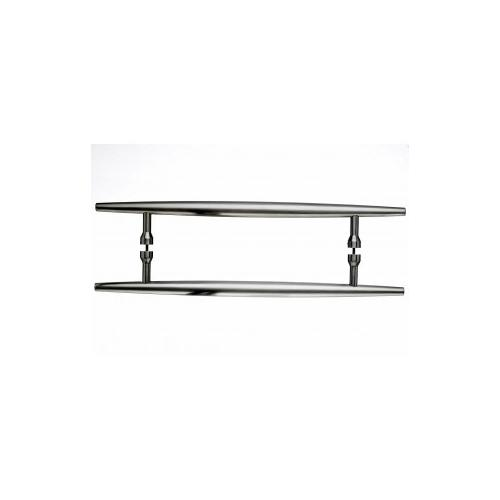 Top Knobs - Nouveau Arrow Door Pull Back to Back 12 Inch (c-c) - Brushed Satin Nickel