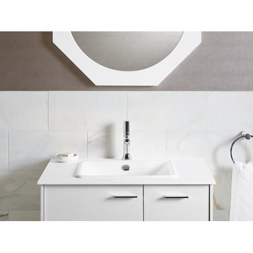 Biscuit Drop-in/undermount Bathroom Sink