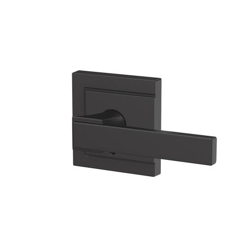 Custom Northbrook Non-Turning Lever with Upland Trim - Matte Black