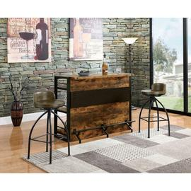 Rustic Swivel Metal Bar Stool