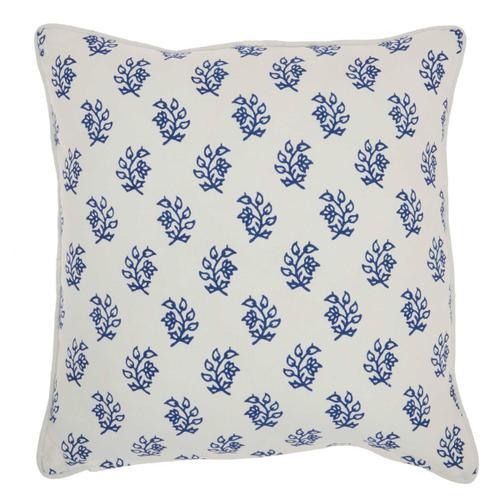"Life Styles Rc791 Blue 18"" X 18"" Throw Pillow"