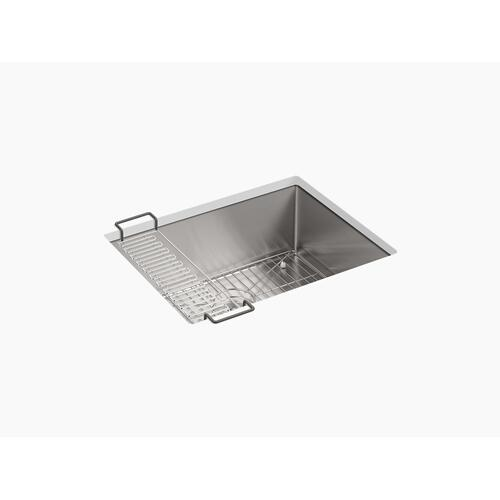 "24"" X 18-1/4"" X 9-5/16"" Undermount Single-bowl Kitchen Sink With Rack"