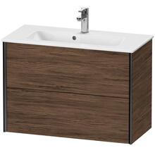 View Product - Vanity Unit Wall-mounted Compact, Walnut Dark (decor)