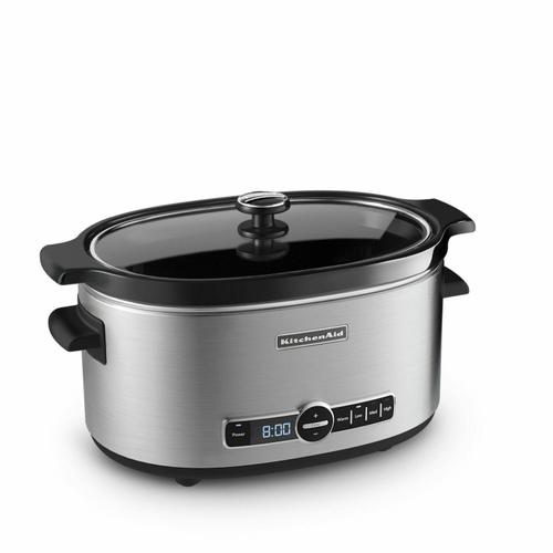 Gallery - 6-Quart Slow Cooker with Solid Glass Lid - Stainless Steel