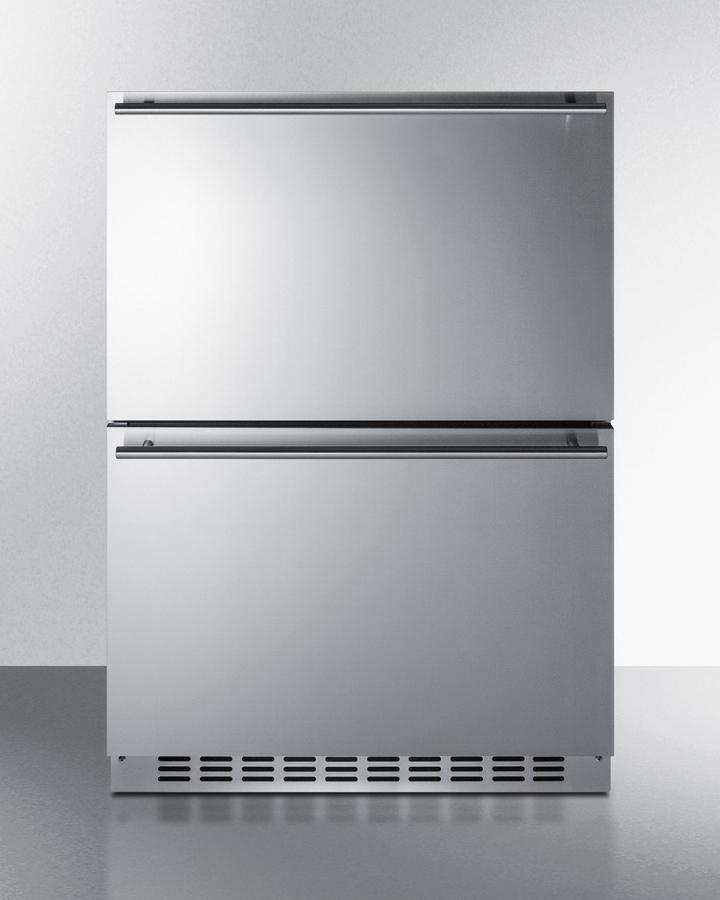 """Summit24"""" Wide 2-Drawer Refrigerator-Freezer"""