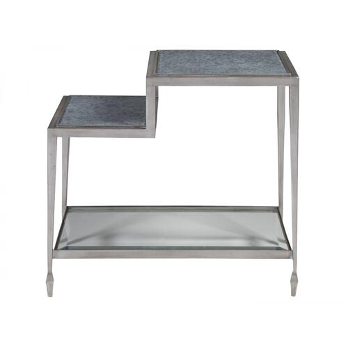 Sashay Silver Rectangular End Table