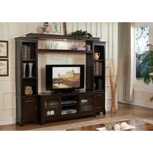 ACME Halden Entertainment Center - Bridge & Shelf - 91090 - Merlot