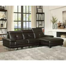 ACME Aeryn Sectional Sofa - 52045 - Espresso PU