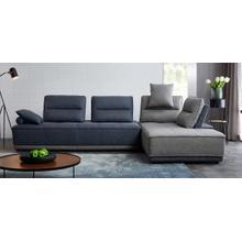 View Product - Divani Casa Glendale - Modern Blue + Grey Fabric Modular Sectional Sofa