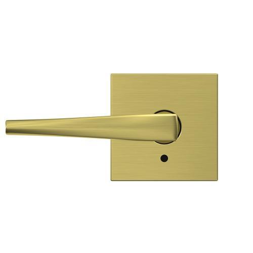 Custom Eller Non-Turning Lever with Collins Trim - Satin Brass