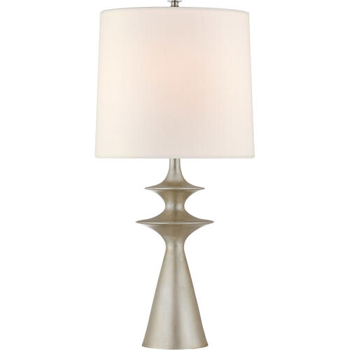 AERIN Lakmos 31 inch 100 watt Burnished Silver Leaf Table Lamp Portable Light, Large
