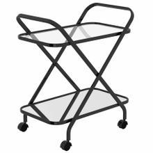 See Details - Oriso 2-Tier Bar Cart in Black