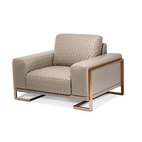Gianna Leather Chair & A Half - Lt. Coffee