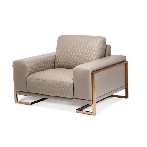 Amini - Gianna Leather Chair & A Half - Lt. Coffee