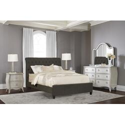 Napleton King Bed - Onyx Linen