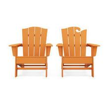 View Product - Wave 2-Piece Adirondack Chair Set with The Crest Chair in Vintage Tangerine