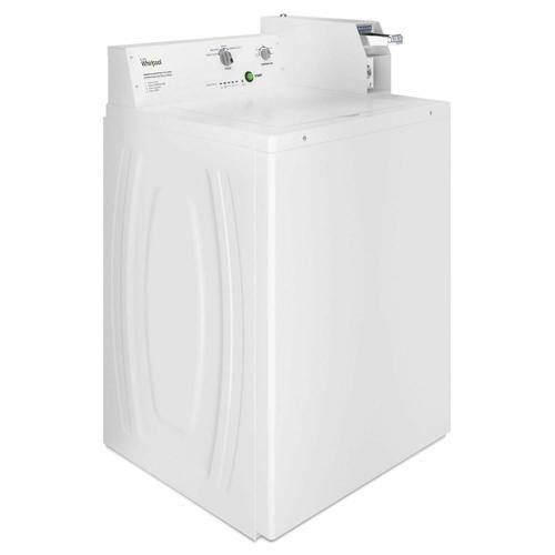 Commercial Top-Load Washer, Coin Equipped White