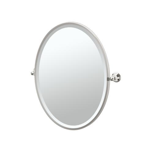 Laurel Ave. Framed Oval Mirror in Polished Nickel