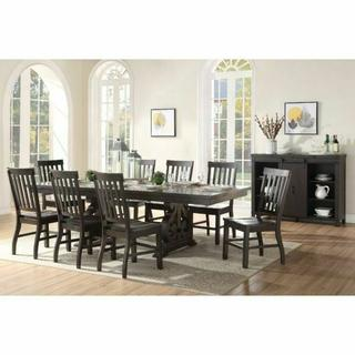 ACME Maisha Dining Table - 61030 - Rustic Walnut