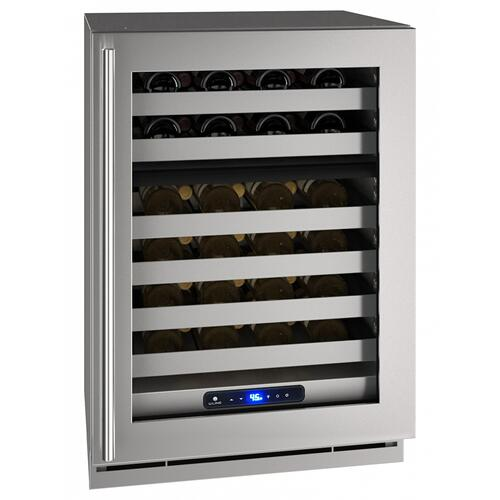 "24"" Dual-zone Wine Refrigerator With Stainless Frame Finish and Right-hand Hinge Door Swing (115 V/60 Hz Volts /60 Hz Hz)"