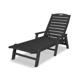 Polywood Furnishings - Nautical Chaise with Arms in Black