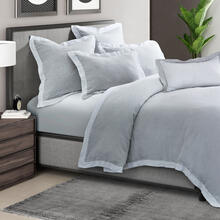 6pc Queen Duvet Set Gray