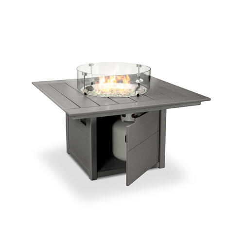 "Black Square 42"" Fire Pit Table"