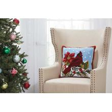 "Home for the Holiday Yx099 Multicolor 18"" X 18"" Throw Pillow"