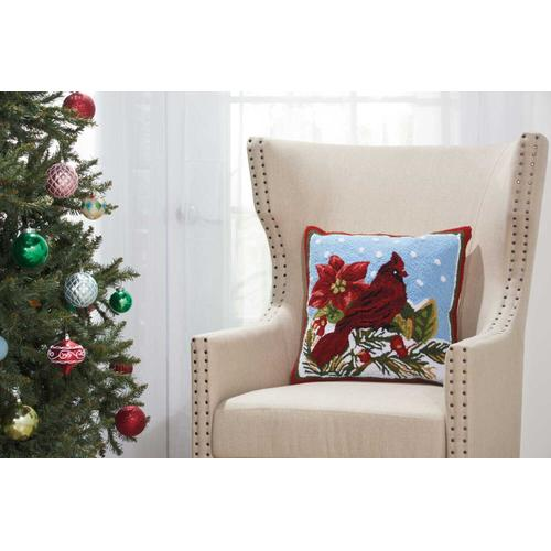 """Home for the Holiday Yx099 Multicolor 18"""" X 18"""" Throw Pillow"""