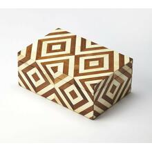 Made using genuine bone in a variety of natures finest hues, the naturals box illustrates exquisite craftsmanship. In a beautiful geometirc pattern this storage box will coordinate with any modern or transitional decor.