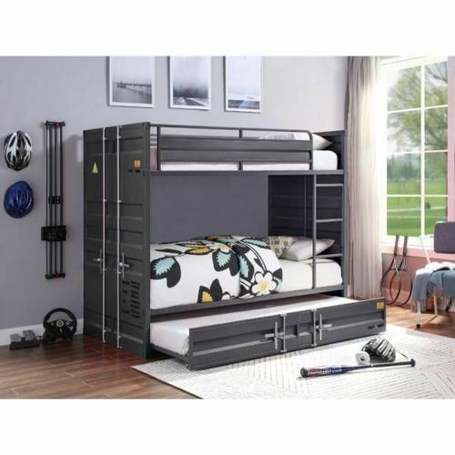ACME Cargo Bunk Bed (Twin/Twin) - 37890 - Gunmetal